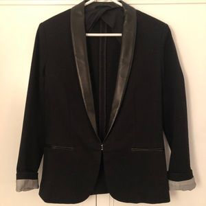 NWOT! Rag & Bone Tuxedo Blazer w Leather, 6